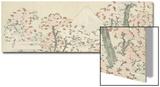The Mount Fuji with Cherry Trees in Bloom Prints by Katsushika Hokusai