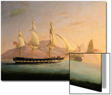 East Indiaman Outward Bound Off Cape Town and Table Mountain (Seen in Two Positions) Posters by Thomas Whitcombe