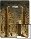 The Interior of the Pantheon, Rome, Looking North from the Main Altar to the Entrance, 1732 Posters by Giovanni Paolo Pannini