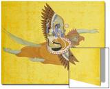 Vishnu and Lakshmi on Garuda Bundi, circa 1700 Prints