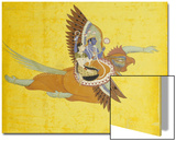 Vishnu and Lakshmi on Garuda Bundi, circa 1700 Posters