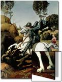 Saint George and the Dragon, 1504-1506 Poster von  Raphael