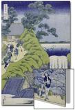 Aoigaoka Waterfall in the Eastern Capital Poster by Katsushika Hokusai