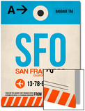 SFO San Francisco Luggage Tag 1 Poster by  NaxArt