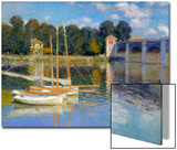 The Bridge at Argenteuil, 1874 Posters by Claude Monet