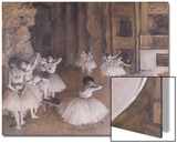Ballet Rehearsal on the Stage, 1874 Print by Edgar Degas