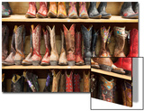 Cowboy Boots Lining the Shelves, Austin, Texas, United States of America, North America Posters by  Gavin