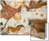 Cave of Lascaux, Ceiling of the Diverticulum: a Horse and Three Cows, C. 17,000 BC Art