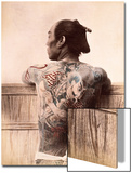 Japanese Tattooed Man, c.1880 Art
