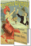 "Reproduction of a Poster Advertising the ""Taverne Olympia,"" Paris, 1899 Prints by Jules Chéret"