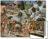 The Journey of the Magi to Bethlehem, the Right Hand Wall of the Chapel, circa 1460 Print by Benozzo di Lese di Sandro Gozzoli
