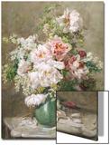 Stillleben mit Pfingstrosen und Rosen Kunst von Francois Rivoire