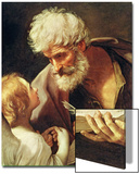 Saint Matthew Kunstdrucke von Guido Reni