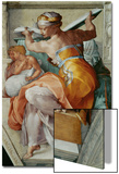 The Sistine Chapel; Ceiling Frescos after Restoration, the Libyan Sibyl Print by  Michelangelo Buonarroti