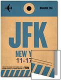 JFK New York Luggage Tag 2 Prints by  NaxArt