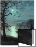 Watching a Moonlit Lake Art by John Atkinson Grimshaw