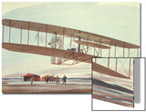 The Wright Brothers at Kitty Hawk, North Carolina, in 1903 Prints by  American School