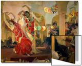 Women Dancing Flamenco at the Cafe Novedades in Seville, 1914 Prints by Joaquín Sorolla y Bastida