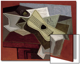 Guitar and Newspaper, 1925 Print by Juan Gris