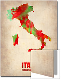 Italy Watercolor Map Posters by  NaxArt