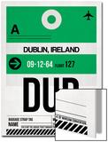 DUB Dublin Luggage Tag 1 Prints by  NaxArt