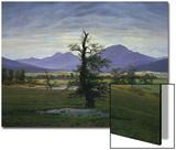Der Einsame Baum (Dorflandschaft Bei Morgenbeleuchtung) (See also Image Number 1433, 1823 Prints by Caspar David Friedrich