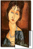Jeanne Hebuterne with a Necklace, 1917 Print by Amedeo Modigliani