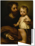 Saint Joseph with Jesus Poster by Bartolome Esteban Murillo
