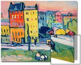 Häuser in München, ca. 1908 Poster von Wassily Kandinsky