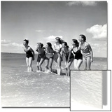"""Marquis De Cuevas"""" Company on the Beach at Deauville: 7 Girls, 7 Nationalities Poster"""
