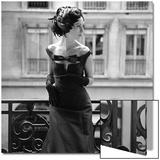 Aftonklänning och fjäderhatt, 1960-tal Konst av John French