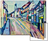 Murnau - Lower Market Street; Murnau - Untermarkt, 1908 Poster von Wassily Kandinsky