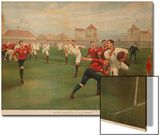 A Rare Print of England V. Wales. January 5th 1895 at Swansea Prints