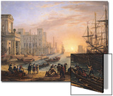 Sea Port at Sunset, 1639 Posters by Claude Lorrain