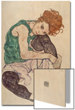 Seated Woman with Bent Knee, 1917 Prints by Egon Schiele