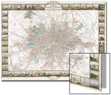 Map of London, 1851 Posters by J Rapkin