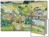 Farmhouses at Auvers, 1890 Posters by Vincent van Gogh