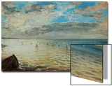 The Sea Seen from Dieppe, Ca Print by Eugene Delacroix