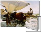 Retour de peche, halage de la barque Prints by Joaquín Sorolla y Bastida