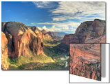 USA, Utah, Zion National Park, Zion Canyon from Angel's Landing Print by Michele Falzone