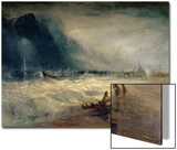 Lifeboat and Manby Apparatus Going off to a Stranded Vessel Making Signal of Distress, circa 1831 Posters by J. M. W. Turner