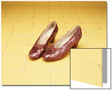 "A Pair of Ruby Slippers Worn by Judy Garland in the 1939 MGM film ""The Wizard of Oz"" Art"