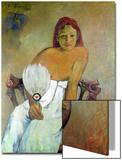 Girl with Fan, 1902 Art par Paul Gauguin