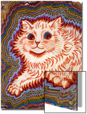 Kaleidoscope Cats III Poster by Louis Wain