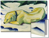 Dog Lying in the Snow Art by Franz Marc