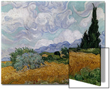 Wheatfield with Cypresses, 1889 Prints by Vincent van Gogh