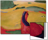 Horse in a Landscape, 1910 Prints by Franz Marc