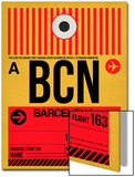 BCN Barcelona Luggage Tag 1 Prints by  NaxArt