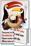 Toucans in their Nests Agree Guinness Is Good for You, 1957 (Lithograph in Colours) Poster