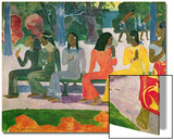 Ta Matete (We Shall Not Go to Market Today) 1892 Posters par Paul Gauguin